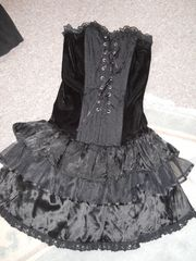sexy Gothic Corsagenkleid Gr S M