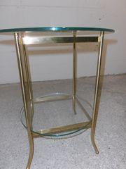 Tisch Messing mit 2 Glasplatten