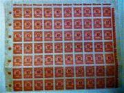 Briefmarken - Bogen - Deutsches Reich