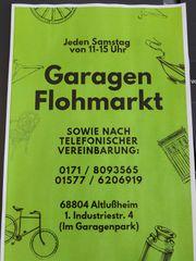 Garagenflohmarkt in Altlussheim