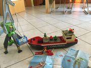 Playmobil Containerschiff und Kran