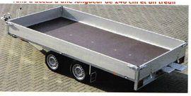 Anhänger, Auflieger - Hochlader Tandem 2000kg