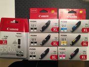 7 Canon PIXMA Original Tintenpatronen