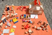 Puppenhaus Holz mit viel Zubehör