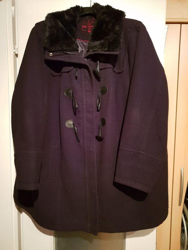 unschlagbarer Preis geeignet für Männer/Frauen fairer Preis Mantel Jacke Schwarz mit abnehmbaren Pelz Ulla Popken Gr. 58 ...