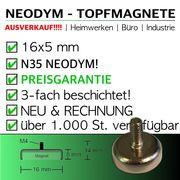 Neodym Topfmagnete 16x5mm mit Aussengewinde