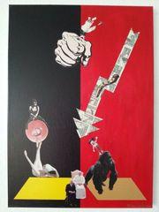 Acryll-Collage des Künstlers Marc-Hülsenbeck