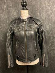 Harley Davidson Motorrad Lederjacke und