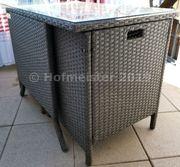 3-teilige Polyrattan Gartensitzgruppe Gartenset Tisch