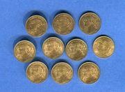 10 Stück Set 10 Franken