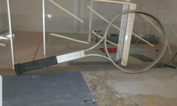 Unikat überdimensionale Tennis Schläger