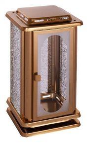 Grablaterne bronzefarben Grablampe Grablicht Grableuchte