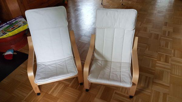 2 Weiße Kindersessel von IKEA