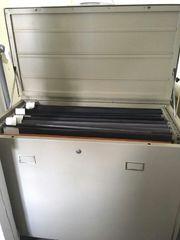 Planschrank mit Papierfächerunterteilung Farbe grau