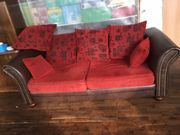 Antiker Ledersofa Art Chesterfield