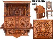 Gründerzeit Wandschrank Hängeschrank um 1880
