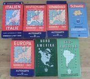 Alte Landkarten - Autokarten - Straßenkarten - Europa -