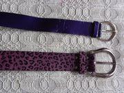Vintage - Gürtel Kunststoff lila und