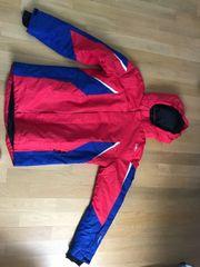 rot blaue Skijacke Gr 176