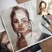 Portrait nach Foto zeichnen lassen