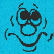 Vorlage für Ministeck Smiley10 40x40cm
