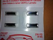 Wendeschneidmesser für Oertli Lamello Nutfräser