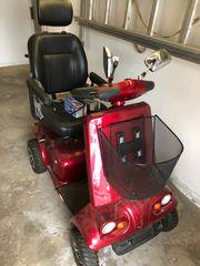 Behindertenfahrzeug elektrisch rot fast nicht