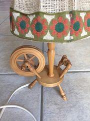 Spinnradl Lampe rustikal Holz