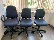 Büro-Dreh-Stühle blau