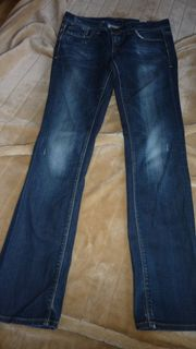 USED- LOOK Stretchjeans GR W32