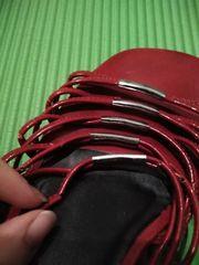 Schuh-Schätze rot - Riemchen angebrochen