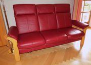 Couch rotes Leder zu verkaufen