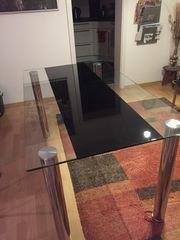 Glastisch-Esszimmertisch 140x80