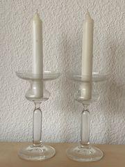 NEU 2 Kerzenhalter aus Glas