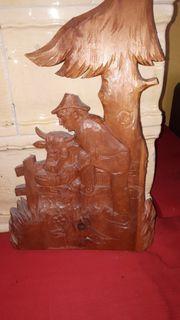 Zirbenholz geschnitzt Relief