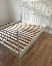 Ikea Bettgestell Leirvik 140x200 weiss