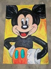 Selbst gemaltes Micky Maus Gemälde