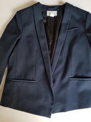 Business-Kostüm Blazer Rock dunkelblau H