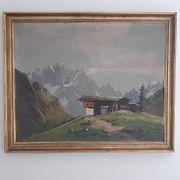 Gemälde Berghütte