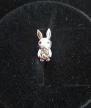 Echt Silber Charm Hase