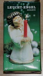 Weihnachts-Engel - Kerzen-Ständer - 19 cm - Leucht-Engel -