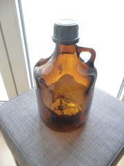 Apothekerflasche Braunglas Weithals 27cm hoch