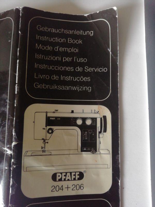 Gebrauchsanleitung Nähmaschine Pfaff 204 u