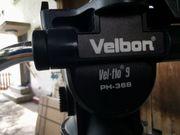 Velbon DV-7000 Vel-PH368 Flo 9-Alu-Dreibein Kamerastativ