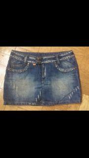 Jeans Minirock S