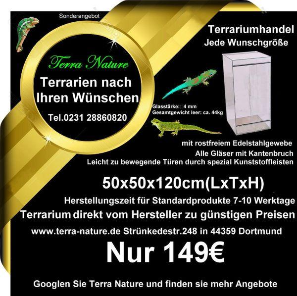 Terrarium 50x50x120cm LxTxH Terrarium Hersteller
