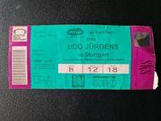 Udo Jürgens Eintrittskarte 1994 Stuttgart