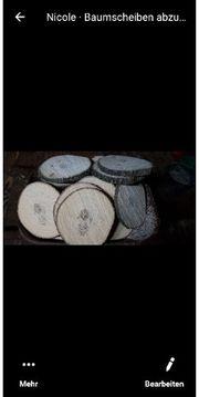 Baumscheiben abzugeben mehrere Maße