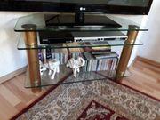 TV Eck-Konsolen mit Glasböden
