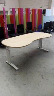 Cockpit-Schreibtisch in ahorn Bürotisch Arbeitstisch -